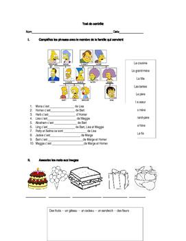 Basic control test (French language)