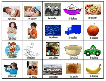 Basic /l/ sound Memory Game (French and English)