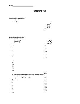 Basics of Polynomials Test