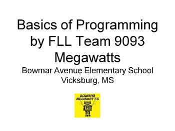 Basics of Programming