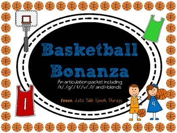 Basketball Bonanza-Articulation Packet for Speech Therapy(