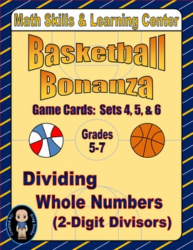 Basketball Bonanza Game Cards (Division with 2-Digit Divis