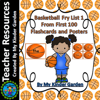 Basketball Fry List 1 From 1st 100  Sight Word Flashcards