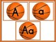 Basketball Full Page Alphabet Letter Posters Uppercase and