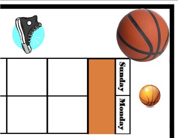 Basketball Calendar! Basketball Bulletin Board! Basketball
