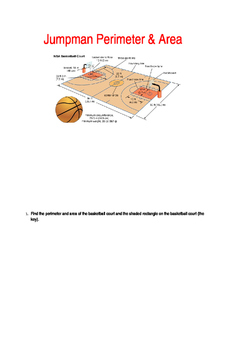Basketball Perimeter & Area Assessment with Differentiated