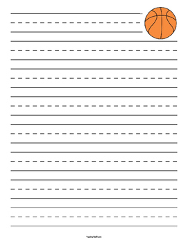 Basketball Primary Lined Paper
