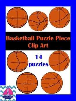Basketball Puzzle Piece Clip Art