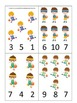 Basketball Sports themed Count and Clip Cards preschool ed