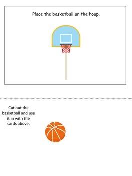 Basketball Sports themed Positional Cards preschool educat