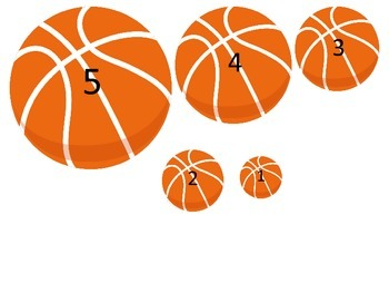 Basketball Sports themed Size Sequence preschool education