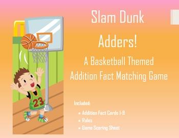 Basketball Themed Addition Flash Card Game