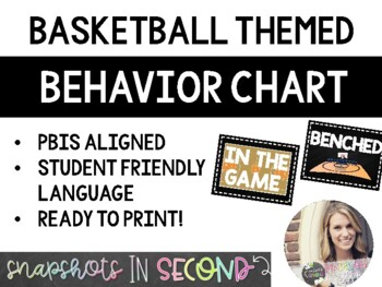 Basketball Themed Behavior Chart
