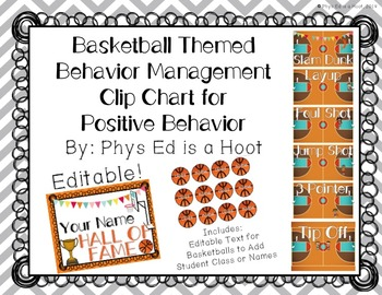 Basketball Themed Behavior Management Clip Chart for Posit