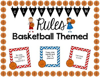 Basketball Themed Classroom Rules