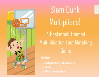 Basketball Themed Multiplication Flash Card Game