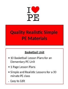 Basketball Unit - 10 Lesson Plans - Elementary PE