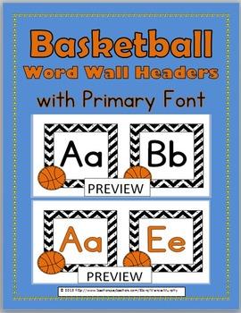 Word Wall Headers - Basketball Theme