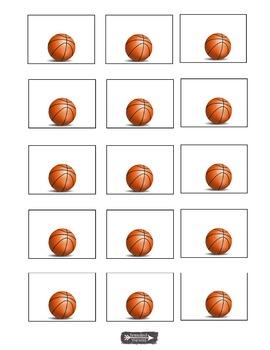 Basketball labels, name tags, bulletin board, charts