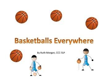Basketballs Everywhere!  Printable adapted interactive boo