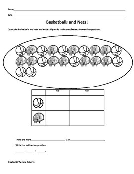 Basketballs and Nets Tally Chart!
