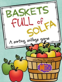 Baskets Full of Solfa - Game for Practicing Solfege