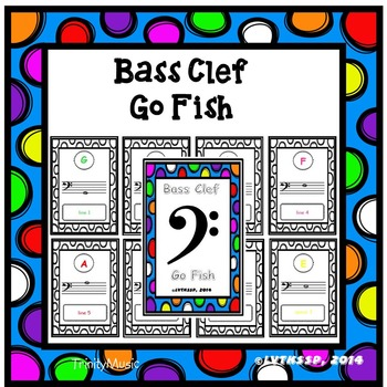 Bass Clef Go Fish Game (Colorful Covers)