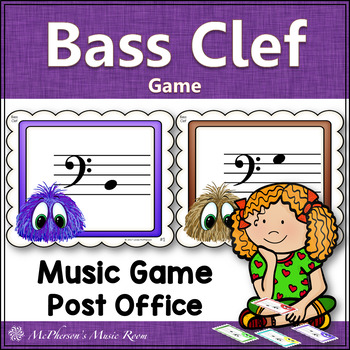 Bass Clef Post Office Music Game {with or without ledger lines}