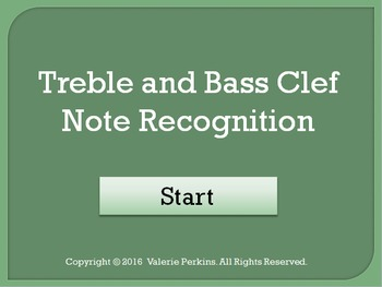 Bass and Treble Clef Note Recognition Interactive Games Bundle