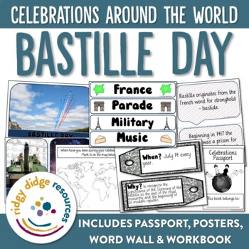 Bastille Day Bundle - Posters, Word Wall, Student Workbook