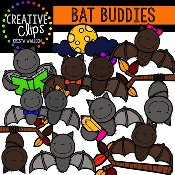 Bat Buddies {Creative Clips Digital Clipart}