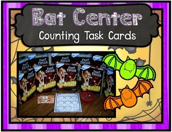 Bat Center ~ Counting Task Cards