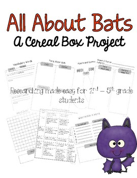 Bat Cereal Box