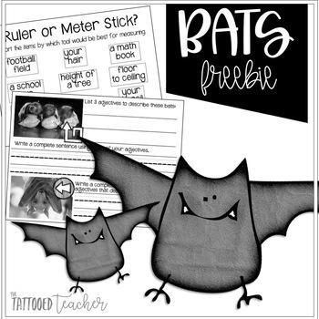 Bat Math and Literacy Freebies