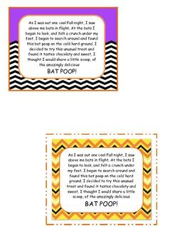 Bat Poop Treat Labels