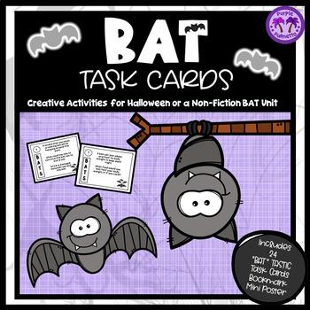 Bat Task Cards (Halloween)