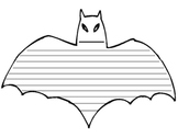 Bat Writing Template