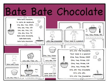 Bate Bate Chocolate (poster & book)