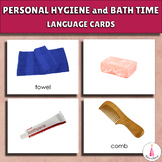 Bath Time and Personal Hygiene Language Cards (Montessori