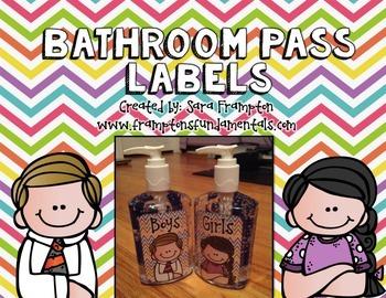 Bathroom Pass Labels- Freebie