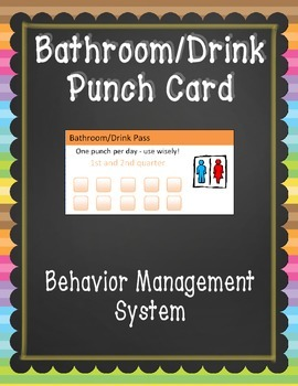 Bathroom Pass/Punch Card