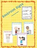 Bathroom Procedure Signs/Posters