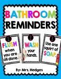 Bathroom Reminder Posters
