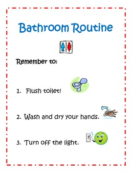 Bathroom Routine Sign
