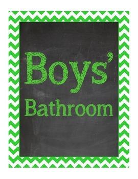 Bathroom Signs Free