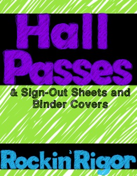Hall and Bathroom Passes - Scribble Themed!