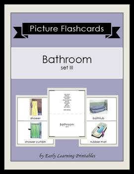 Bathroom (set III) Picture Flashcards