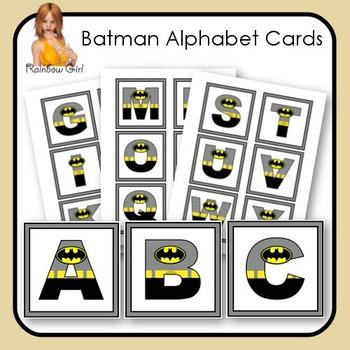 Batman Alphabet Cards