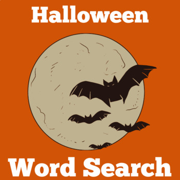 Bats Word Search | Bats Activity | Bats Unit | Bats Hallow