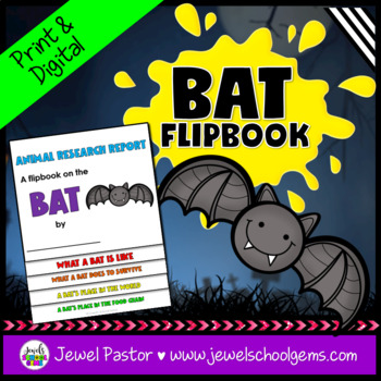Halloween Science Activities (Bats Research Flipbook)